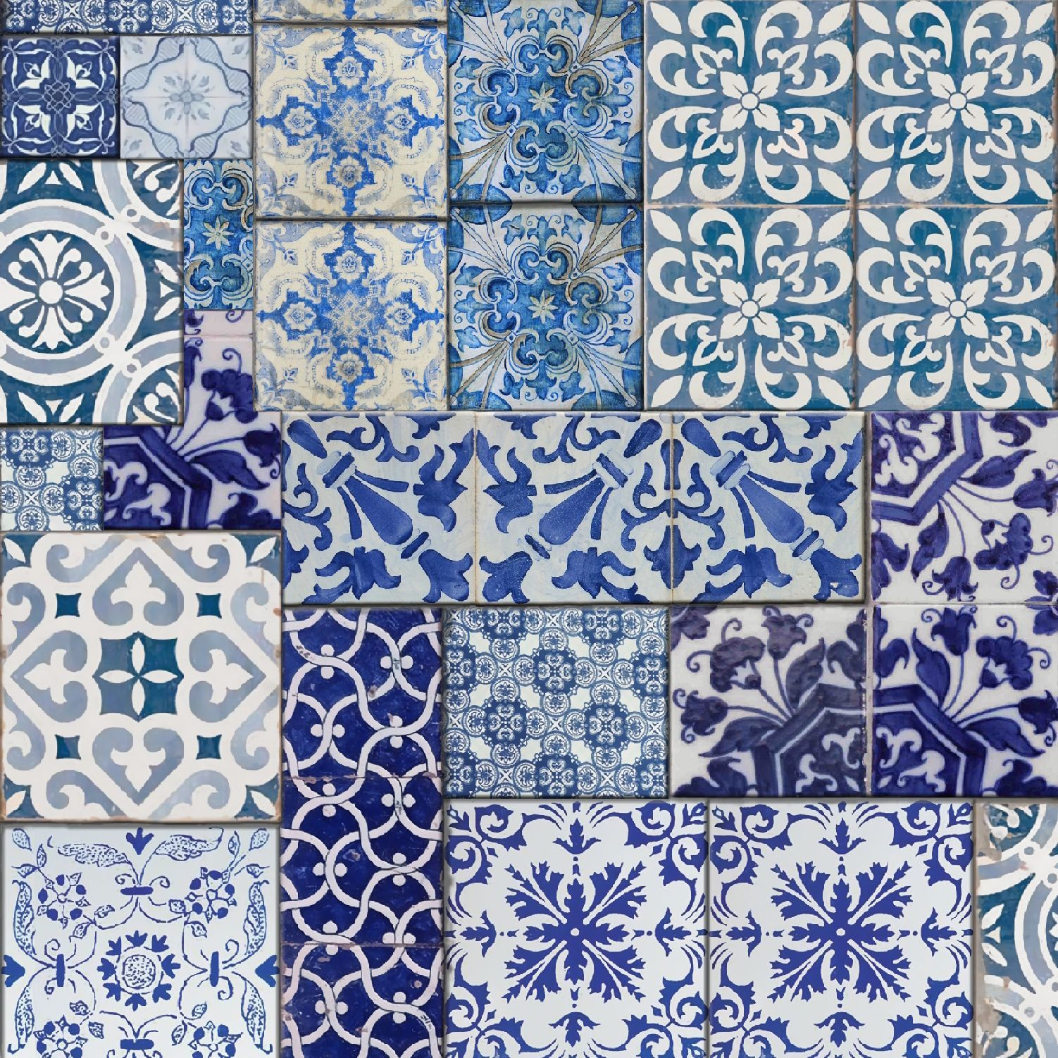 Muriva Blue Moroccan Tiles Wallpaper | Pinterest | Häkeln