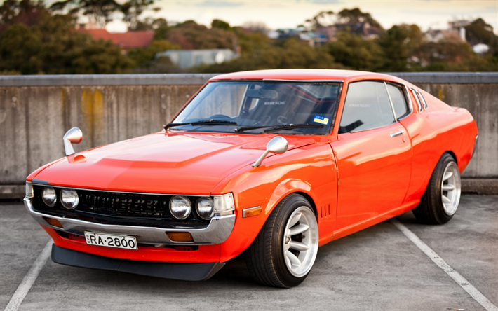 Download Wallpapers Toyota Celica Liftback 1977 2000 St Ra35 Retro Sports Car Japanese Classic Cars Sports Coupe Orange Celica Front View Japanese Cars Toyota Celica Classic Japanese Cars Classic Cars