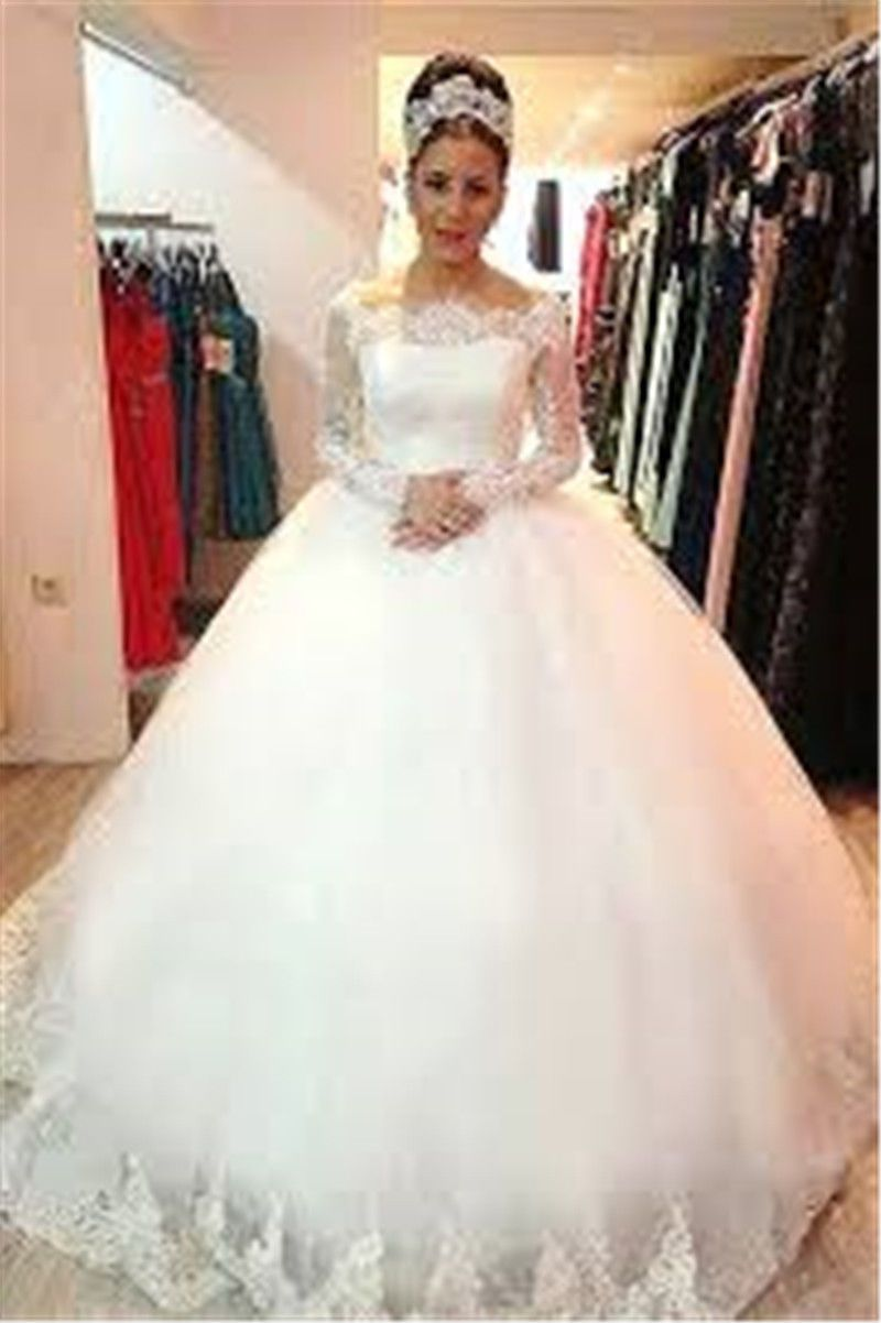 Cool new lace whiteivory wedding dress bridal ball gown custom