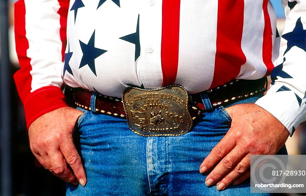 Man in cowboy attire, Close-up, Fort Worth, Texas, USA.   TEXAS - EE ...