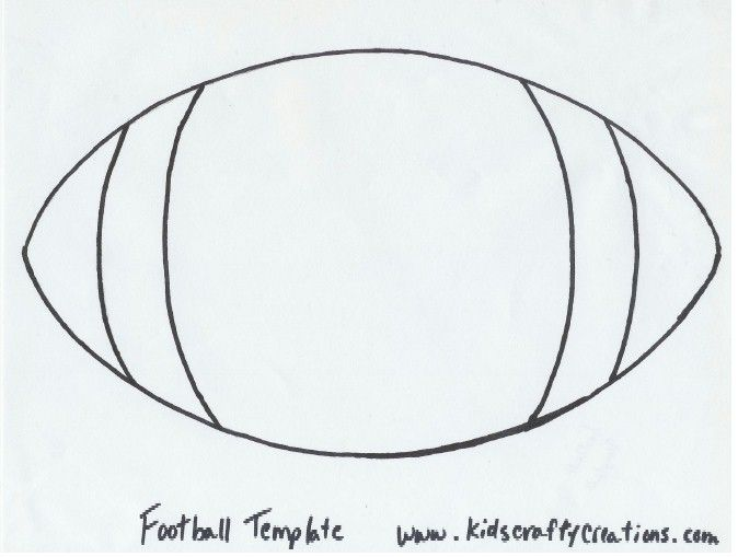 Home Football Crafts Football Template Sport Themed Crafts