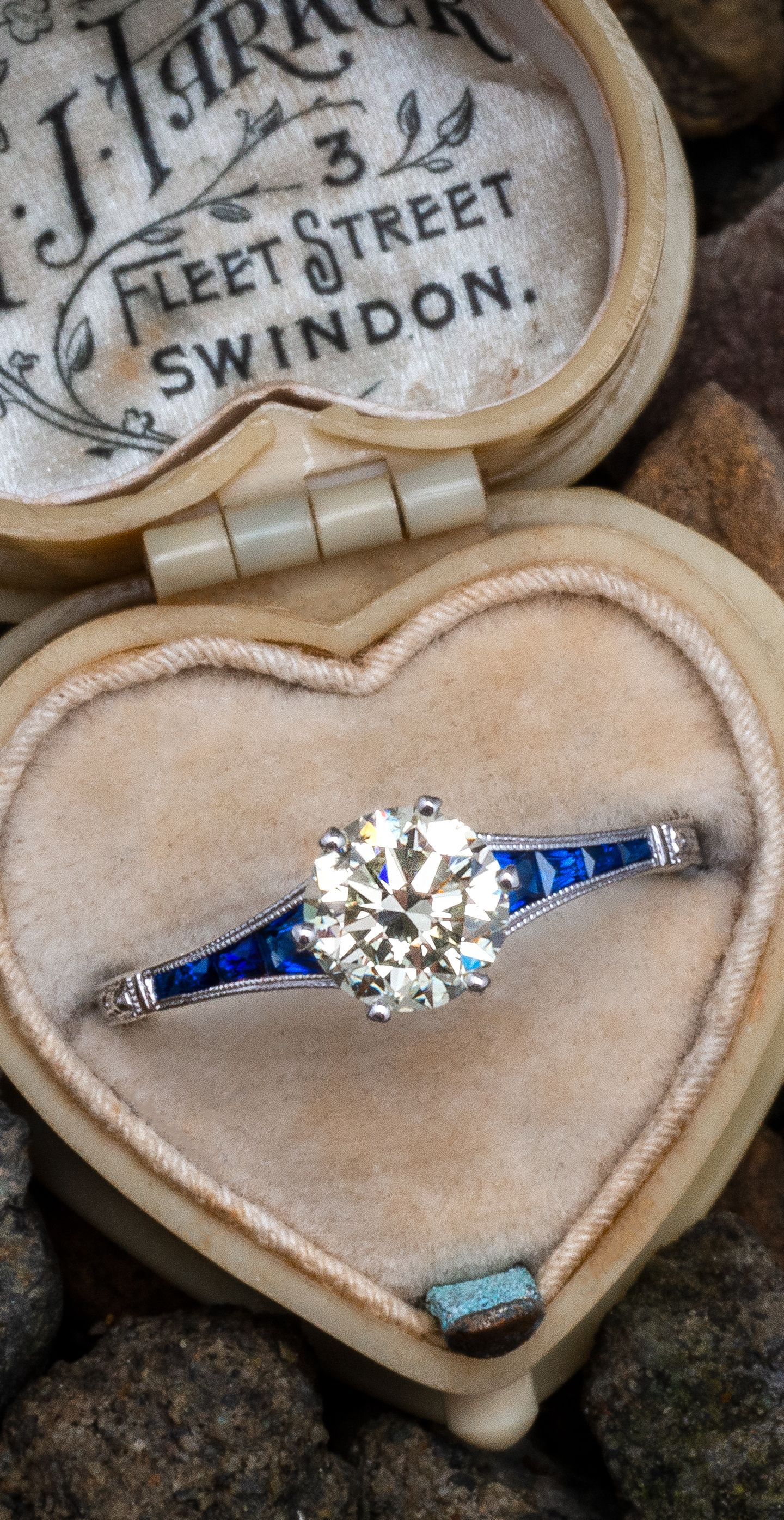 ebaec05cf Diamond & Sapphire Engagement Ring. Diamond & Sapphire Engagement Ring  Vintage Jewellery ...