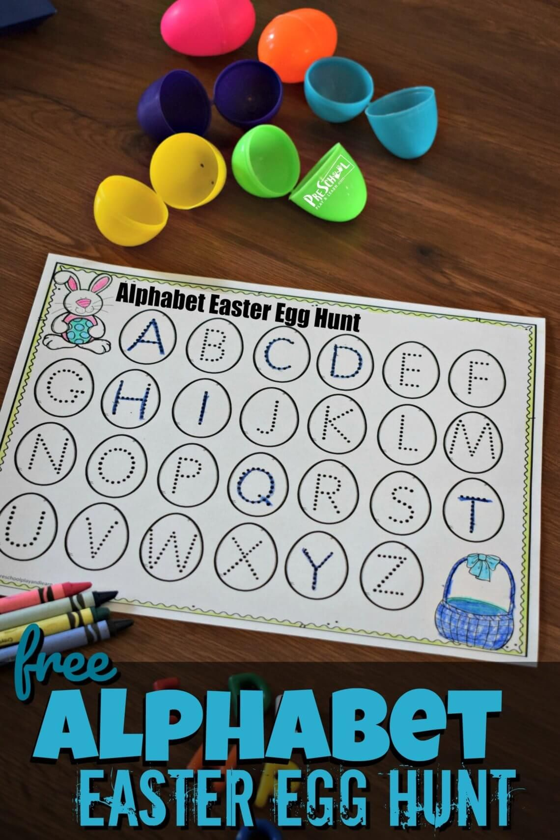 Free Alphabet Easter Egg Hunt Super Cute Alphabet