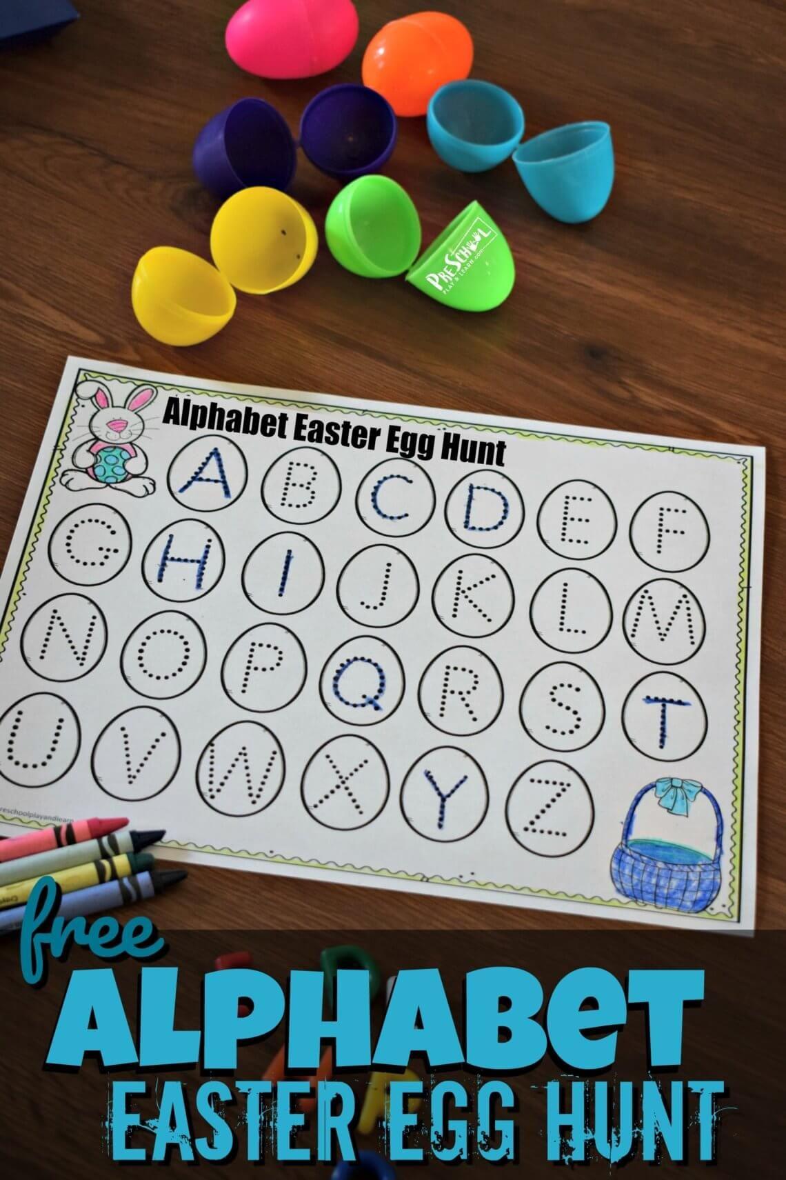 Free Alphabet Easter Egg Hunt Super Cute Alphabet
