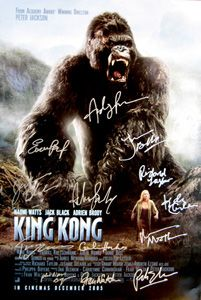 King Kong Original 27x40 Movie Poster Cast Signed By Director Peter