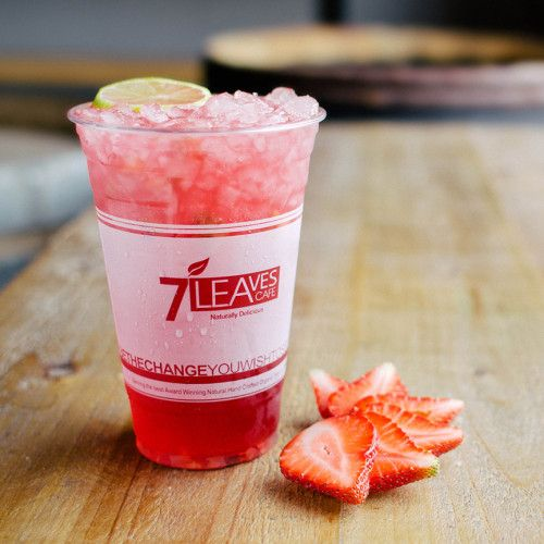 7 Leaves Cafe Strawberry Hibiscus Tea Goodie Foodie Cafe
