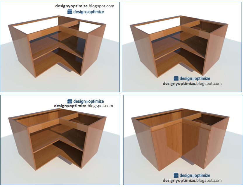 Forma Fácil de Fabricar Mueble Esquinero Bajo de Cocina