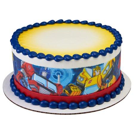 Transformers Edible Icing Image Cake Border 3 Strips Walmart Com Transformers Birthday Cake Edible Icing Images Transformer Birthday