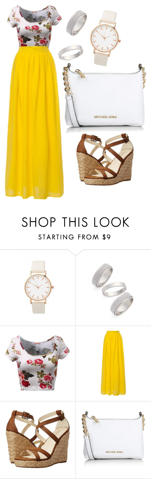 """""""#58"""" by micabugge on Polyvore featuring Topshop, Gabriella Rocha, Michael Kors, women's clothing, women's fashion, women, female, woman, misses and juniors"""