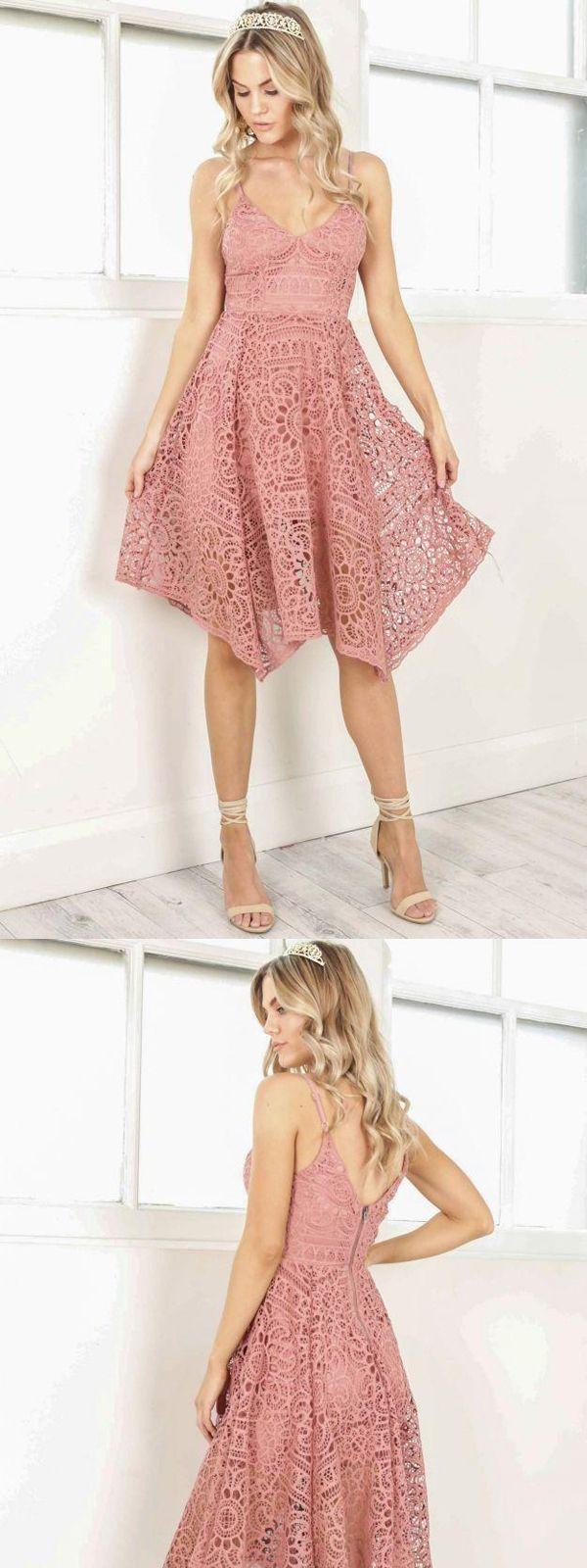 Cheap v neck short cute lace homecoming dresses cm cheap v