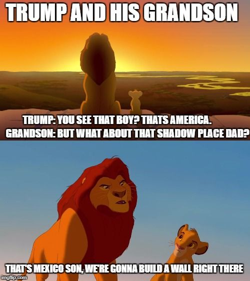 donald trump and his grandson the lion king meme funny hilarious