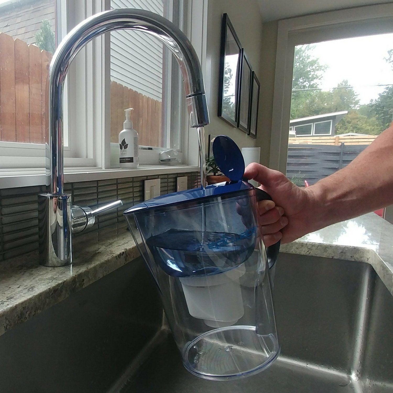 Epic pure water filter jug navy blue 35l bpafree