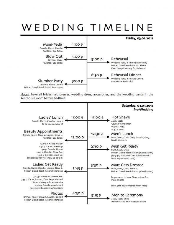 Wedding run sheet template | midway media.