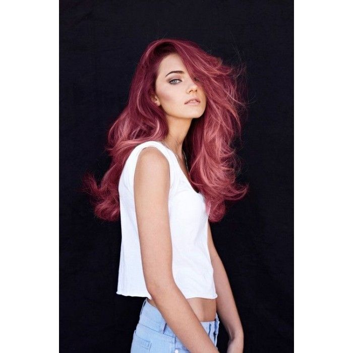 Set Of 5 Ombre Red And Pink Salon Grade Colored Hair Chalk