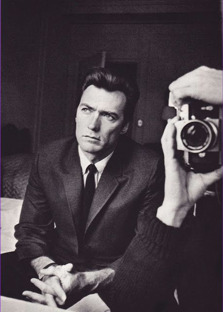 Clint Eastwood with photographer Duane Michals