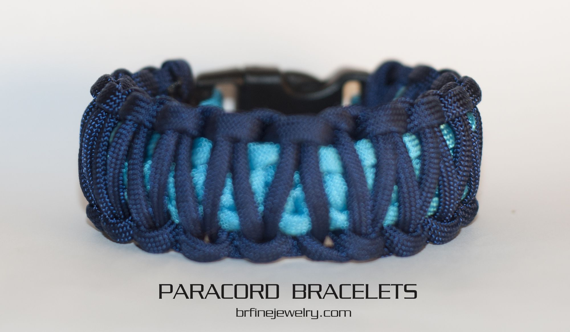 King Cobra Bright Blue And Navy Blue Paracord Bracelet