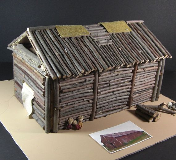 Native American Long House Scale Model By Successionary