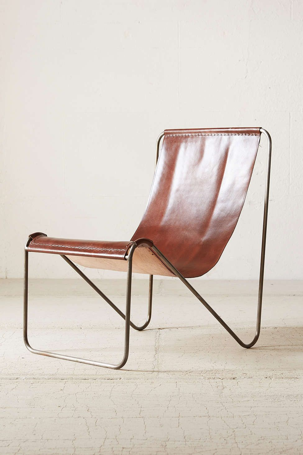 Leather sling chair - Maddox Leather Sling Chair