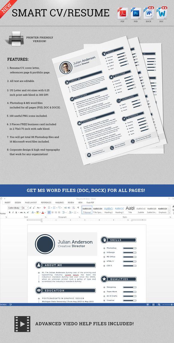 Smart Resume The Smart Cv Resume  Julian  Template Creative Design And