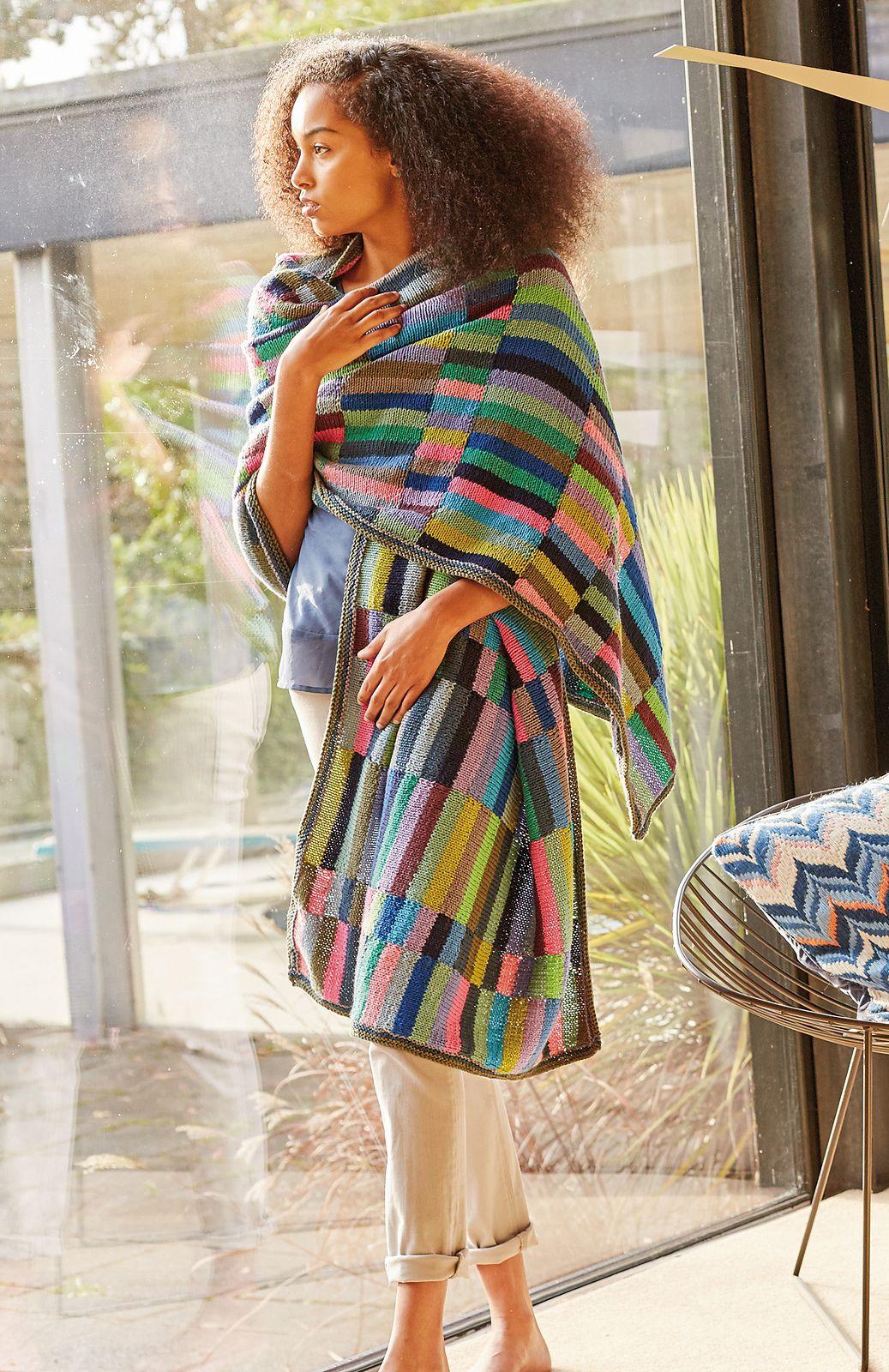 Waterlilies Runner Stole By Kaffe Fassett - Free Knitting Pattern ...