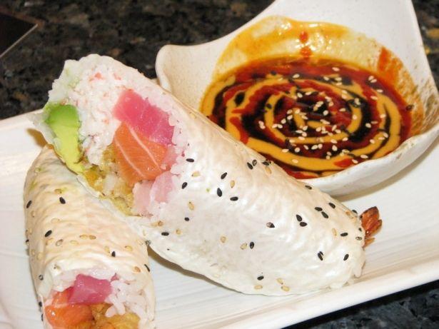 Sushi burrito from Gen Kai in Dana Point | Breakfast in Bed