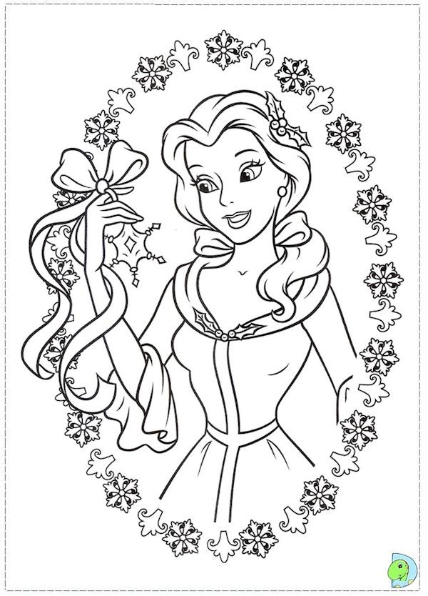 belle christmas malvorlagen disney princess zum