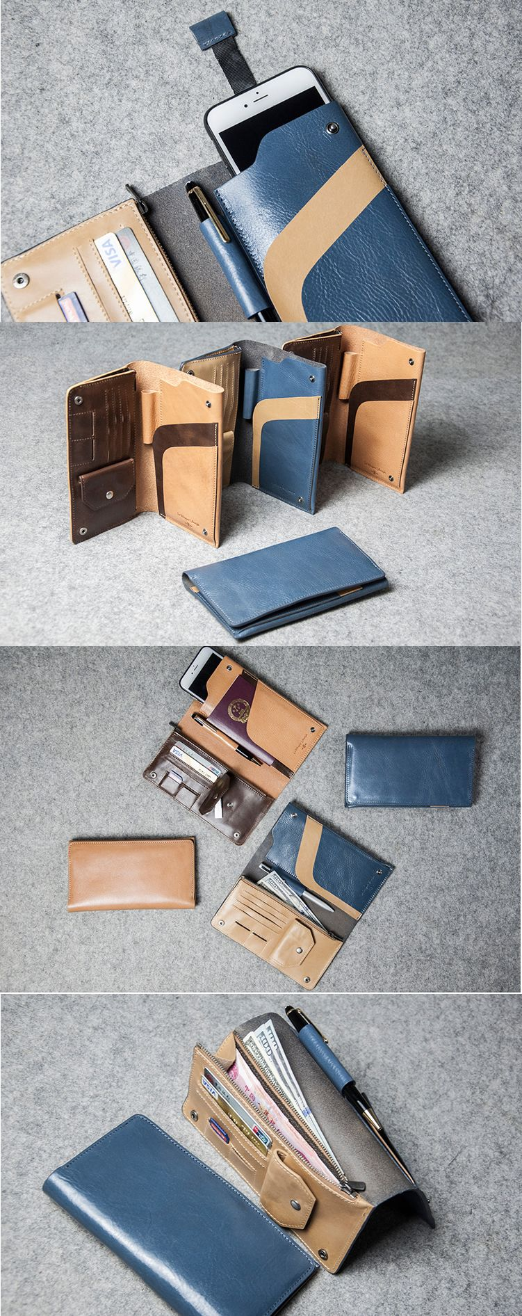 Multi functional travel genuine leather wallet business portfolio multi functional travel genuine leather wallet business portfolio bag professional organizer phone iphone cell phone case colourmoves