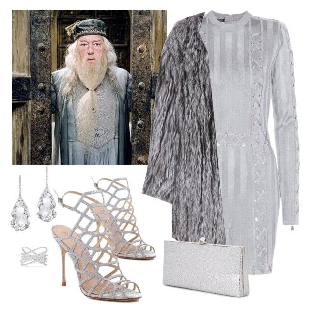 Albus Dumbledore by diane-randle on Polyvore featuring polyvore, fashion, style, Balmain, The Row, Schutz, Jimmy Choo, Plukka, Effy Jewelry, Percival and clothing
