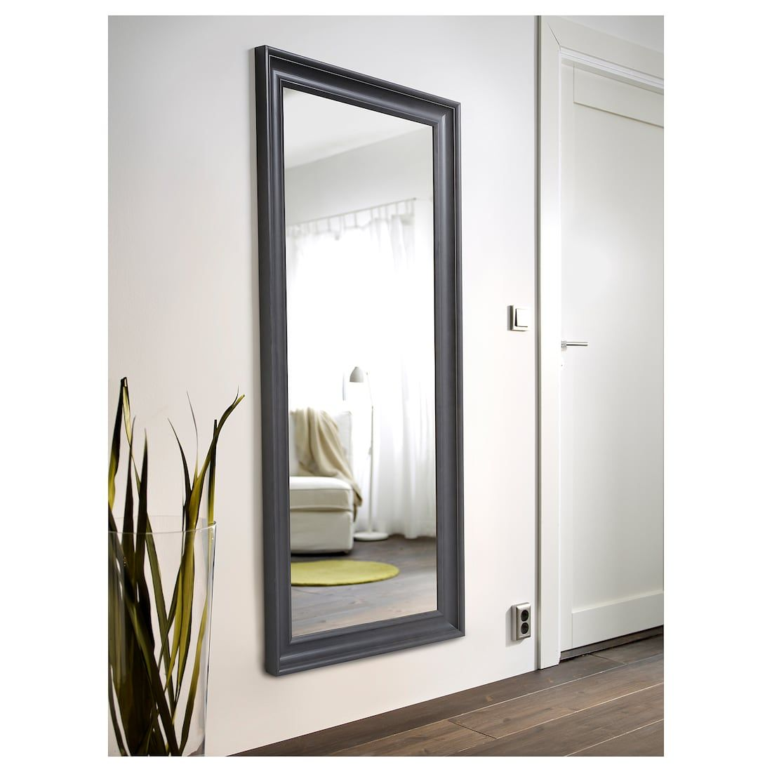 Hemnes Mirror Gray Stained Width 29 1 8 Height 65 Ikea Hemnes Mirror Ikea Full Length Mirror Hemnes