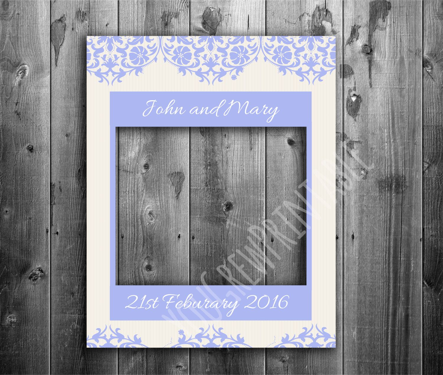 photo booth frame prop digital download wedding frame vintage wedding props selfie