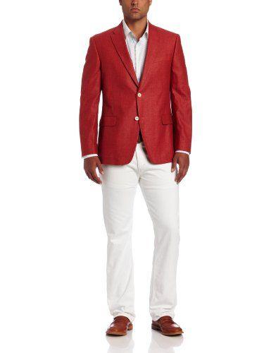 Tommy Hilfiger Men's Trim Fit Seasonal Washed Linen Sport Coat ...