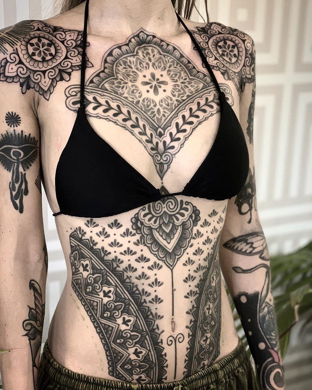Ornamental tattoo artist Jack Peppiette