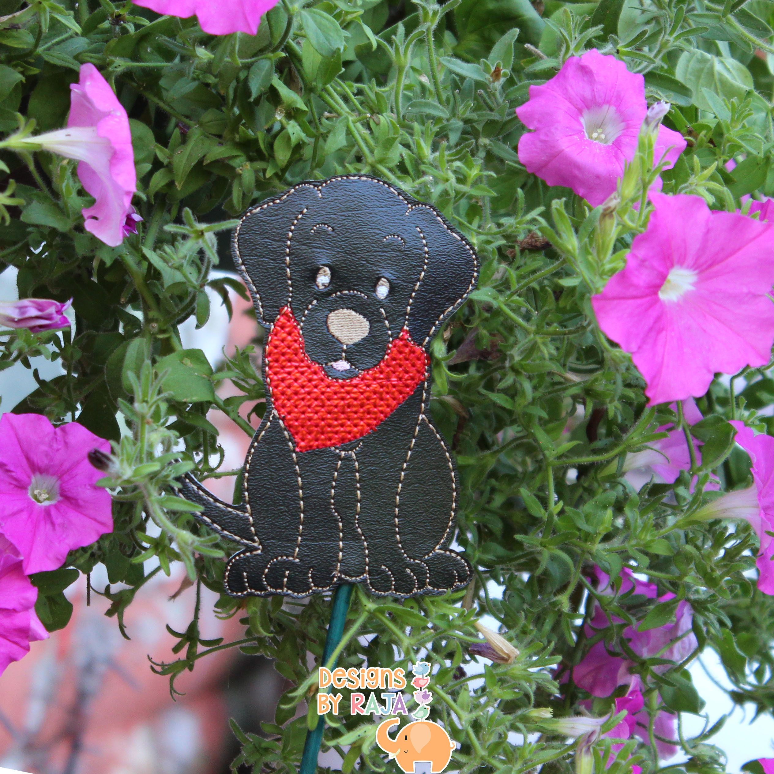 Black Lab garden stake, garden decor, plant gift, new home gift ...