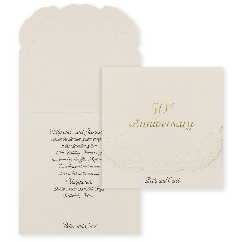 50th Anniversary Invitation 50th Anniversary