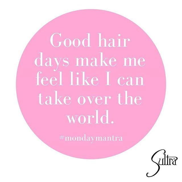 Start your Monday off right with great hair! Our #mondaymantra is that a good hair day can make you feel invincible.