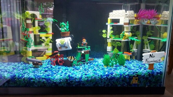 Lego Aquarium Diy Fish Tank Fish Tank Decorations Lego Fish
