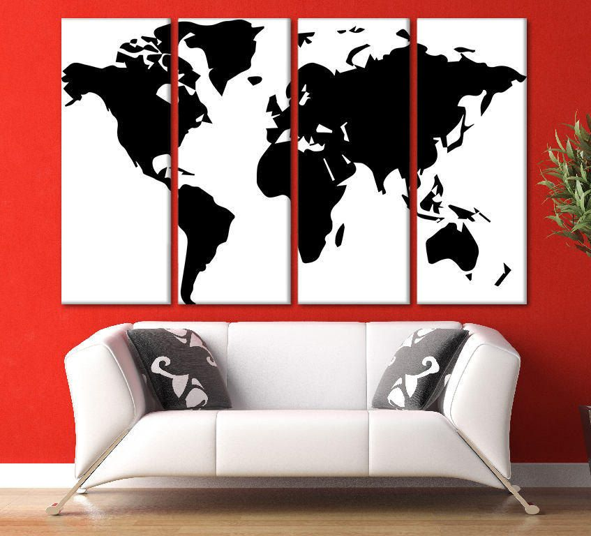 Black and white world map world map large extra large wall art world black and white world map world map large extra large wall art world map wall art gumiabroncs Gallery