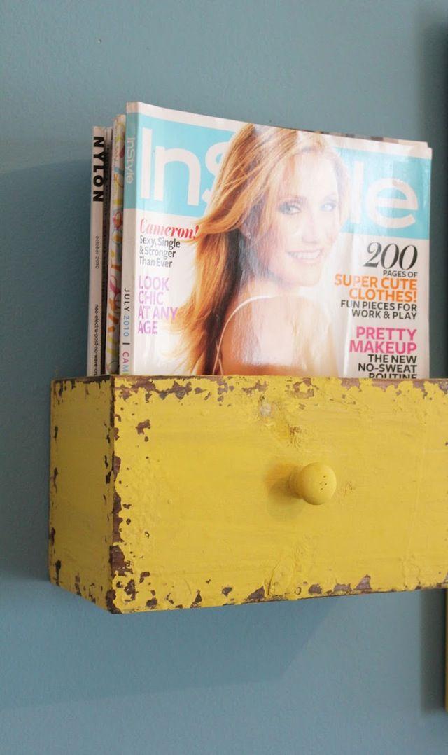 Fabrica tu propio revistero para el baño #HázloTúMismo #DIY | Apartment Therapy