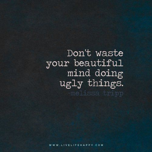 Inspirational Quotes On Life: Don't Waste Your Beautiful // Powerful Positivity