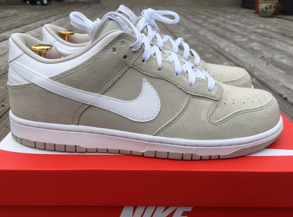 wholesale dealer 6fb0a 9c2f9 Nike Dunk Low Mens Sneakers Pale GreyWhite Size 10 Uk Euro 45. 904234-002   eBay