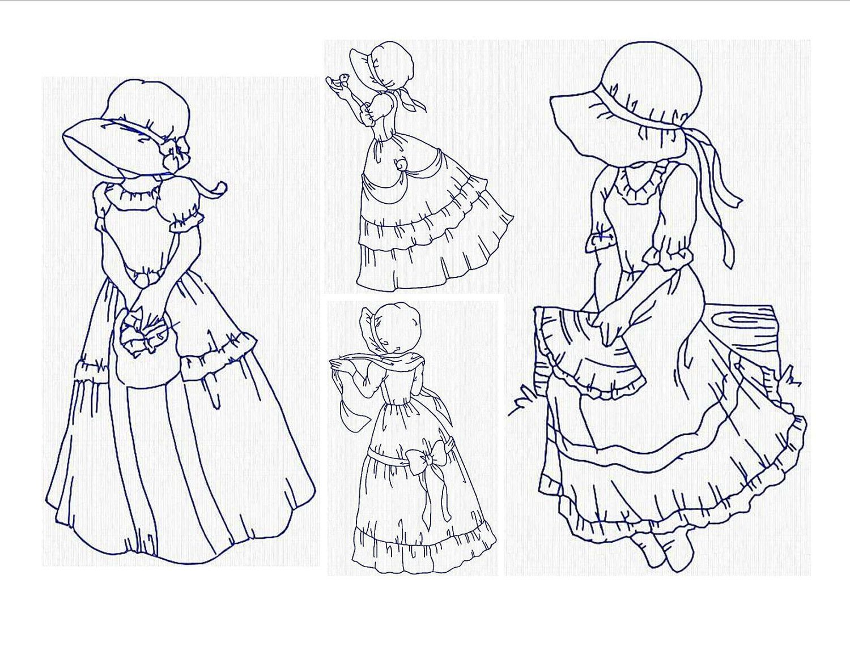 sunbonnet sue teen | Embroidery | Pinterest | Bordado, Dibujo y ...