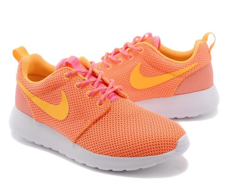 on sale f05f7 00ae2 Nike Roshe Run Chaussures De Sport Orange Clair pink orange ventes spéciales