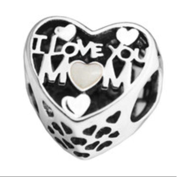 charm pandora i love mom