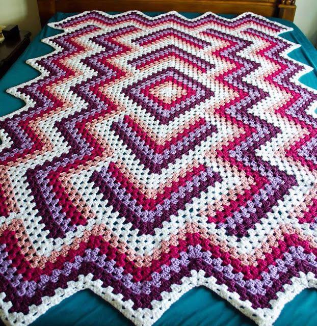 amazing!!!! wowww # free tutorial   Free crochet blanket   Pinterest