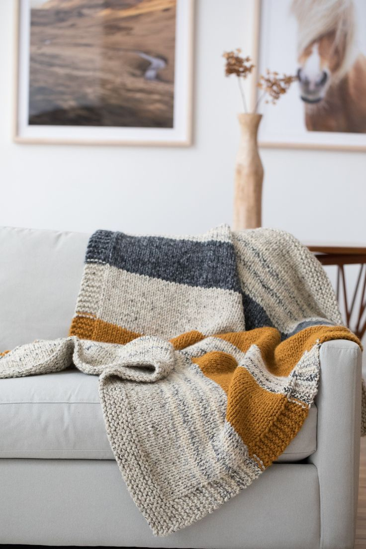 Photo of Knit Kit – Simple Striped Afghan