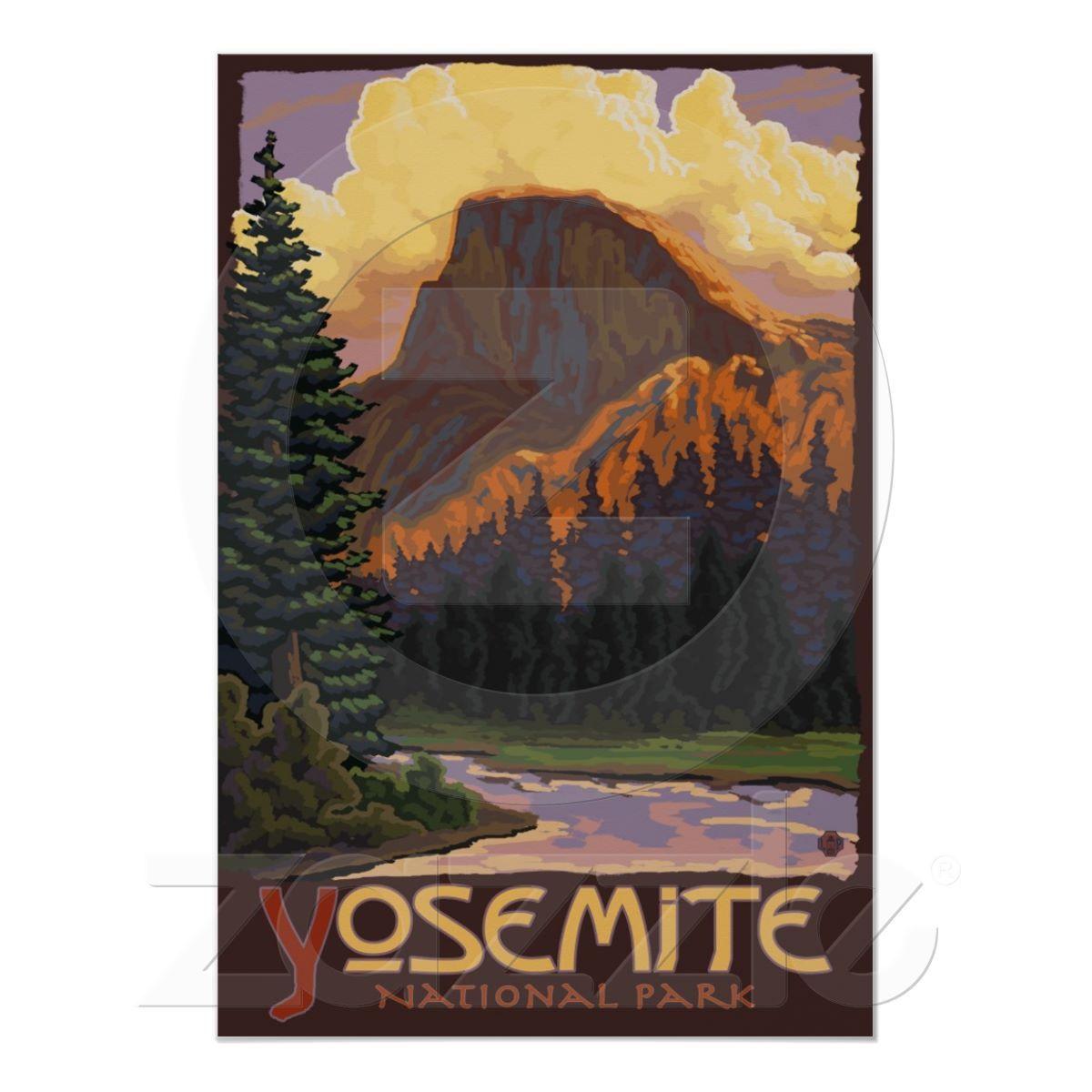 Yosemite Poster Half Dome Poster Yosemite National By