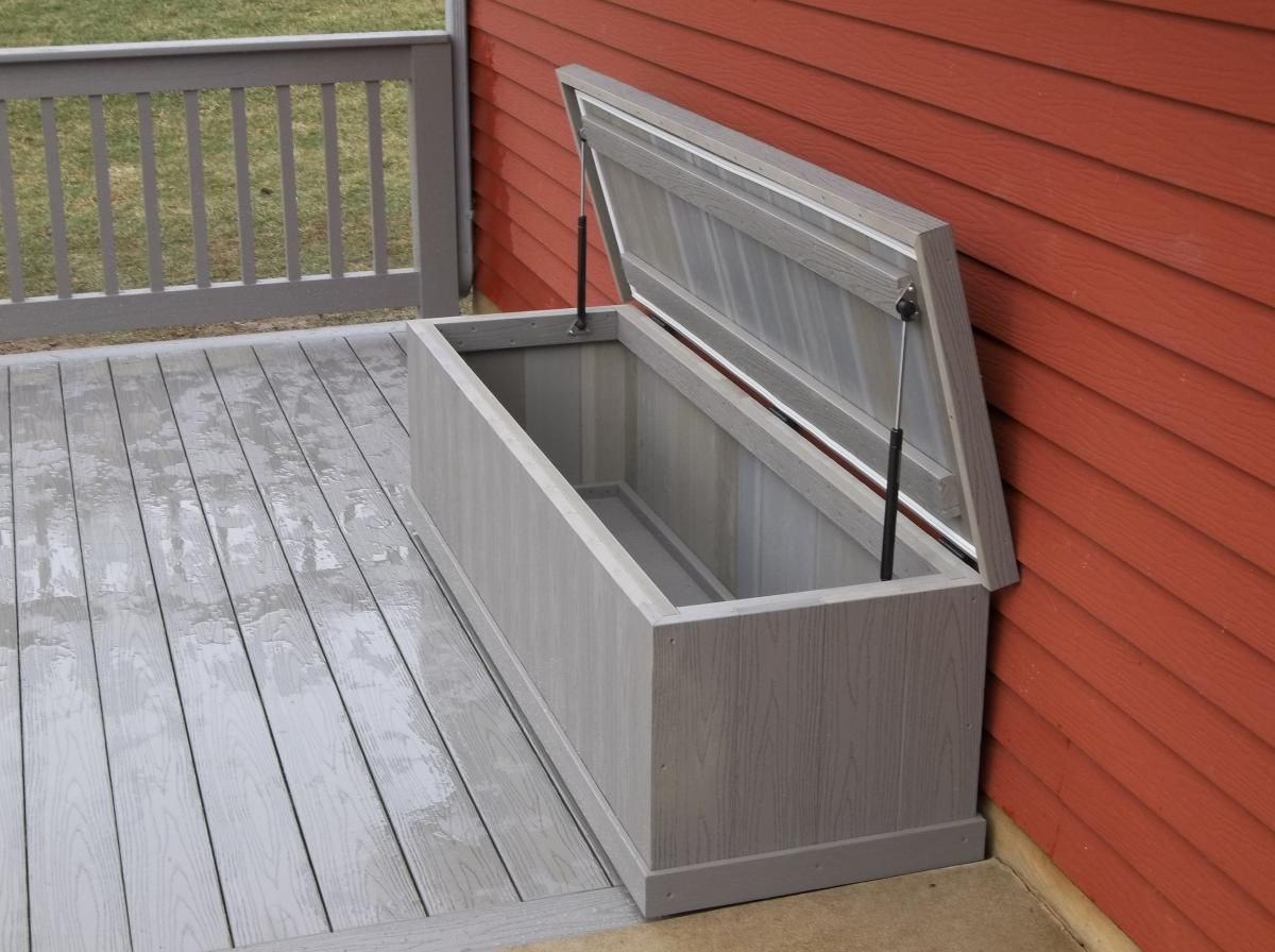 Waterproof Storage Bench Deck Bench Benches Outdoor Storage