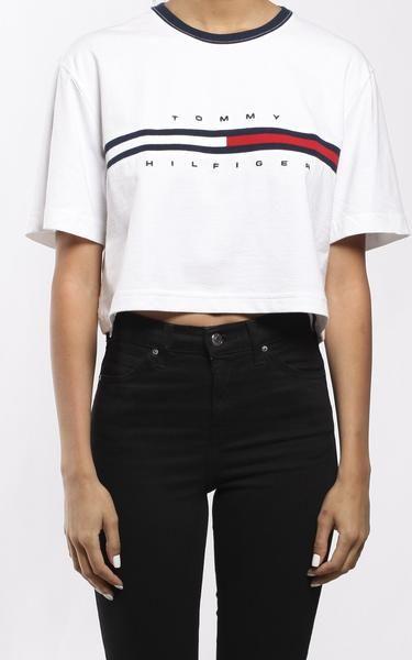 Vintage Tommy Hilfiger Crop Tee Tommy Hilfiger Outfit Tommy Hilfiger Sweatshirt Tommy Hilfiger Fashion