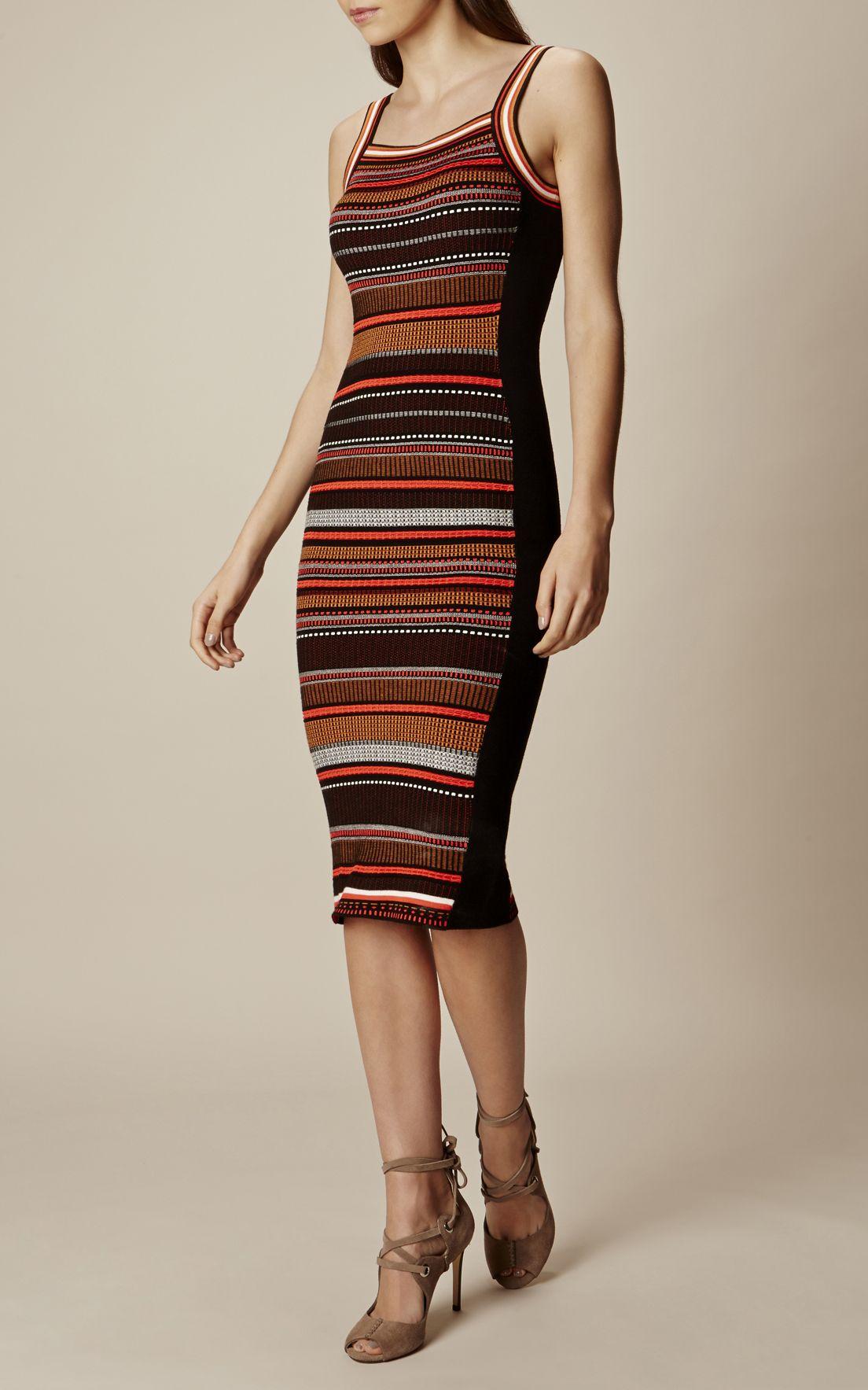 d198e6ff00c Трикотажное платье в полоску Karen Millen. Цвет