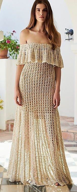 63+ Cute and Stylish Crochet Dresses Pattern Ideas For Summer Part 55